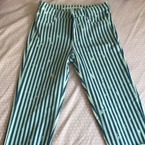 Zara jeans with stripes